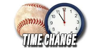 Baseball Time Change